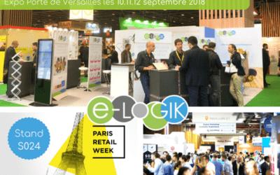Jamais 2 sans 3: le réseau e-LOGIK annonce sa présence au Paris Retail Week 2018
