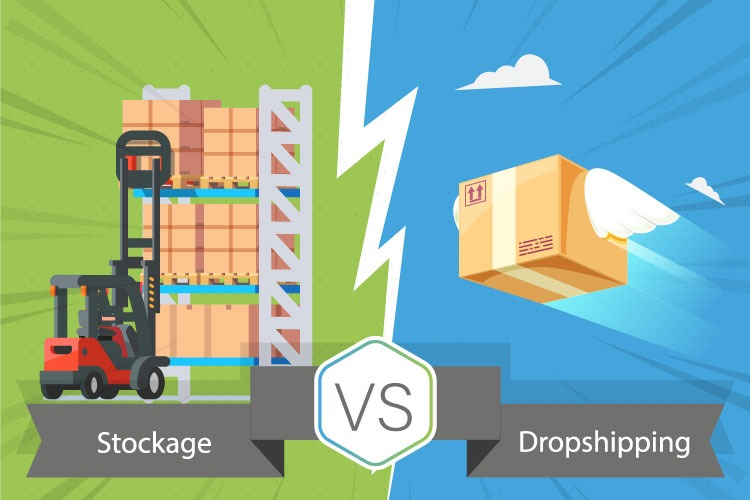 Stockage VS Dropshipping